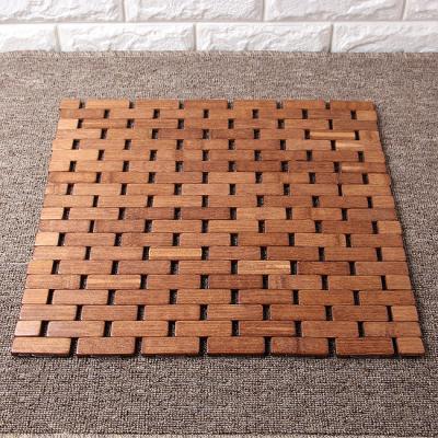 벽돌무늬 대나무방석(39cm)/차량용 쿨방석 통풍시트 방석