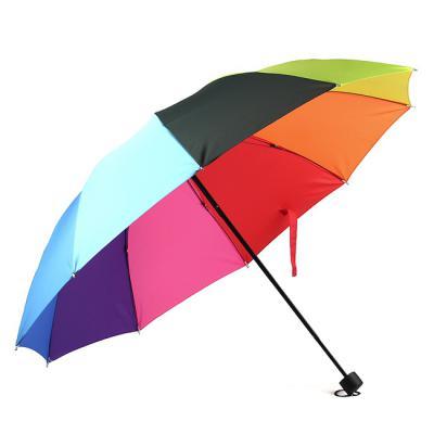 Rainbow 무지개 3단 우산