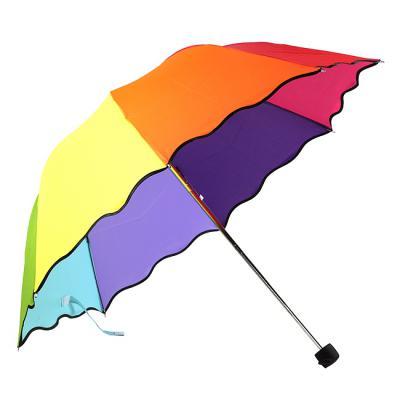 레인보우 3단 접이식 우산