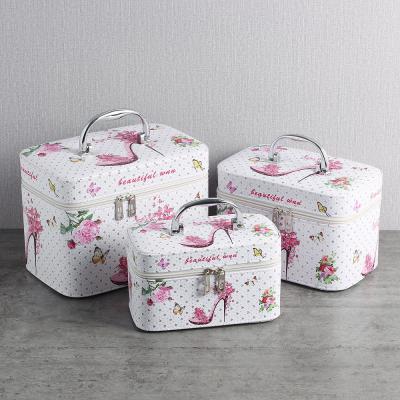 로맨틱 메이크업박스 3종세트/네일가방 화장품가방