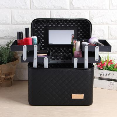 거울내장 메이크업박스/미니화장대 휴대용 화장품가방