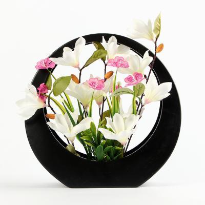 목련+원형프레임 화분세트/조경인테리어 꽃장식 조화