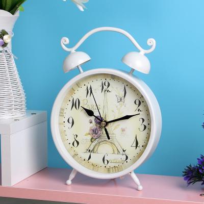화이트 탁상시계/인테리어시계 엔틱시계 테이블시계