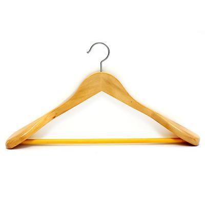 고급 원목 양복 옷걸이(베이지)