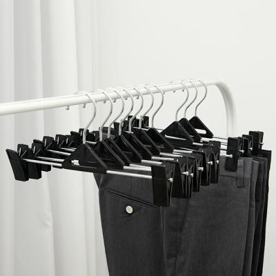 10p 플라스틱 바지걸이/옷가게 매장용 집게형 옷걸이