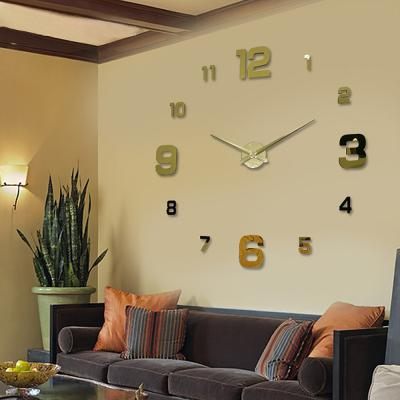 DIY 고딕넘버 벽시계 골드/인테리어벽시계 무소음시계