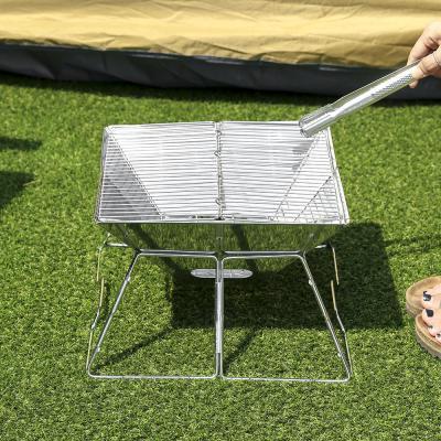 소형 캠핑화로대 접이식 바비큐 그릴(35x36cm)
