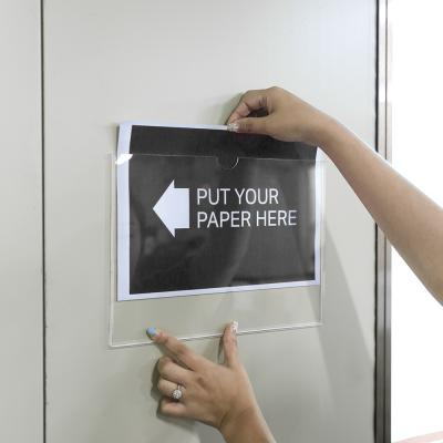 인포프레임 부착용꽂이판 아크릴 가로형 알림판