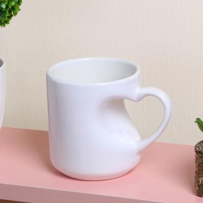 하트머그컵(화이트) 카페 머그잔 커플머그잔