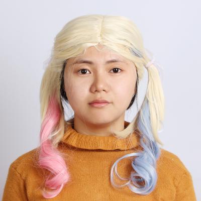 수어사이드 할리퀸가발 양갈래 파티가발