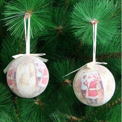 로즈트리 산타할아버지와 소녀 장식볼 트리꾸미기