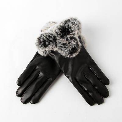 퍼 가죽장갑 겨울 가죽장갑 여성용 인조가죽장갑