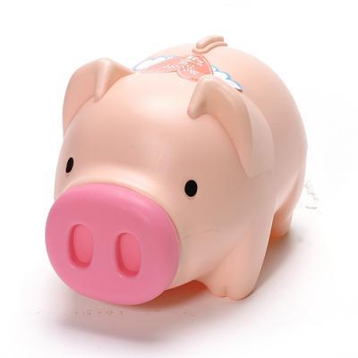 핑크 코 돼지저금통 핑크돼지 저금통 (대2호)
