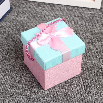 로즈 손잡이 리본 선물상자 1p 선물포장박스