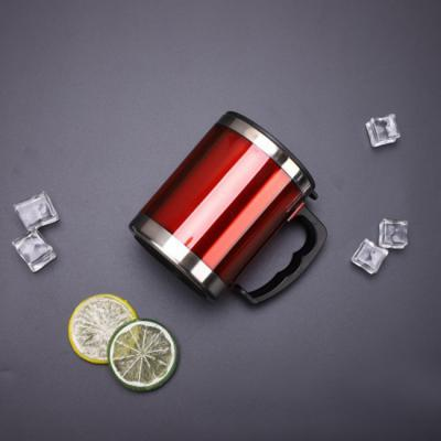 450ml 스텐 보온컵 휴대용 스텐 텀블러(레드)