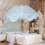 유니룸 텐트형 사각 모기장(블루)/3인용 침대모기장
