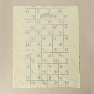 100매 양장비닐봉투(노랑)/의류 옷봉투 비닐쇼핑백