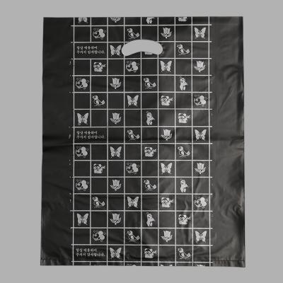 100매 양장비닐봉투(검정)/비닐쇼핑백 의류 옷봉투