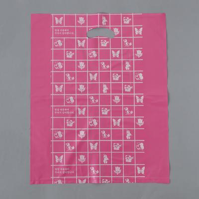 100매 양장비닐봉투(빨강)/비닐쇼핑백 의류 옷봉투