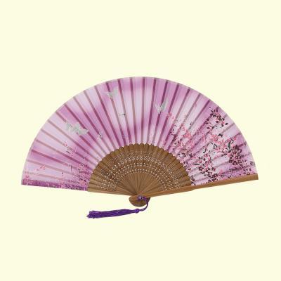 죽림 대나무 죽림 나비 부채(핑크)/전통부채 여름부채