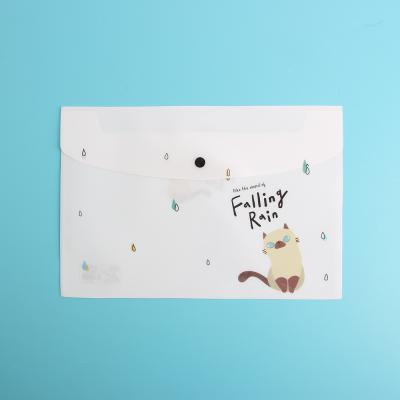 고양이 똑딱이 화일 10p/A4 화일케이스 문서 파일