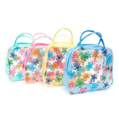 투명한 꽃무늬 비치백/어린이날선물 완구점납품용