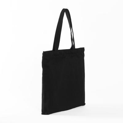 무지 캔버스 지퍼 포켓 에코백(블랙)/지퍼에코백 가방만들기 무지가방 가방리폼