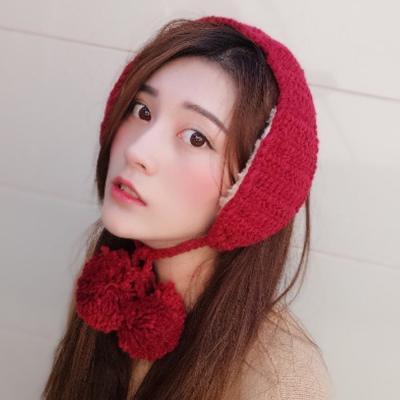 보온 방울 귀도리 / 겨울 니트 귀마개