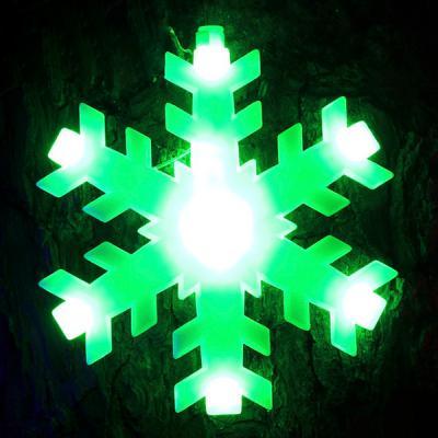 120구 투명선 LED 눈결정 칼라전구(2.7M) (점멸有)