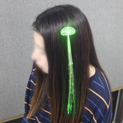 광섬유 LED머리핀(그린)/ 파티용 붙임머리핀
