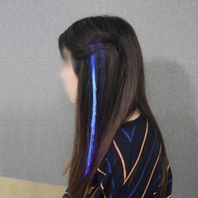 광섬유 LED머리핀(블루)/ 파티용 붙임머리핀