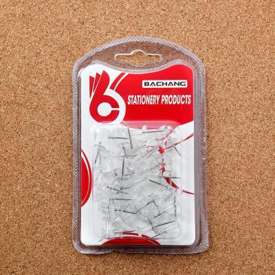 문구박사 투명 푸쉬핀 35p세트/사무용 압정 압침 장구핀