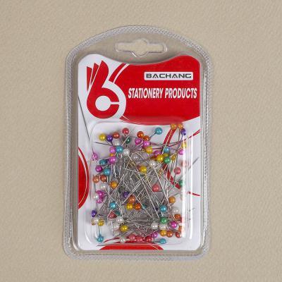 문구박사 칼라 진주핀 70p세트/의류 옷감 시침핀 봉제핀