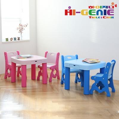 하이지니 보드상판 유아동 책상 의자SET(책상1개 의자2개)