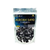 오로라 샌드 블랙 350g 소 4~8mm 칼라자갈 어항장식품