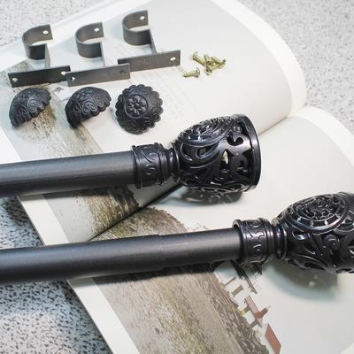 커튼봉(지름2.5cm)블랙 6자 8자 10자 12자 14자 16자 18자