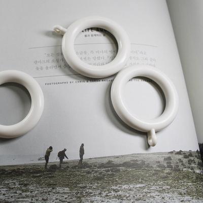 커튼링 10개 (지름2.5cm)-화이트 골드 블랙