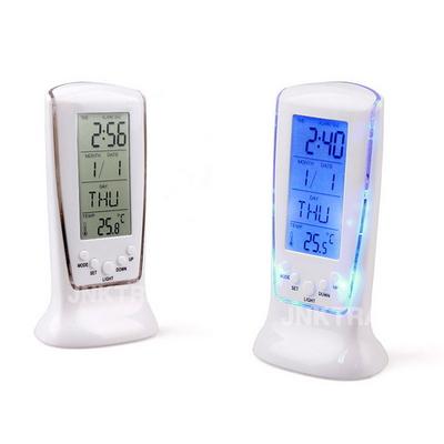 네온 디지털 LED 무소음 탁상시계