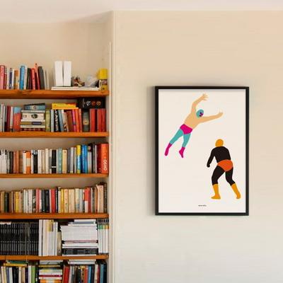 유니크 인테리어 디자인 포스터 M 나쵸리브레