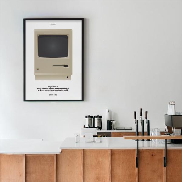 유니크 인테리어 디자인 포스터 M 클래식MAC 스티브잡스 - 모노하, 13,320원, 홈갤러리, 포스터