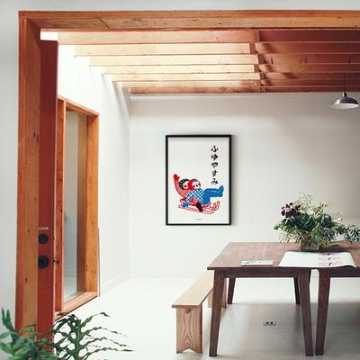일본인테리어 디자인 포스터 M 눈썰매 일본소품