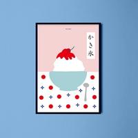 일본 유니크 인테리어 디자인 포스터 M 얼음빙수2
