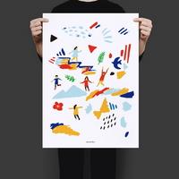 유니크 인테리어 디자인 포스터 M 소풍 피크닉