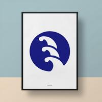 일본 유니크 인테리어 디자인 포스터 M 웨이브2 일식소품