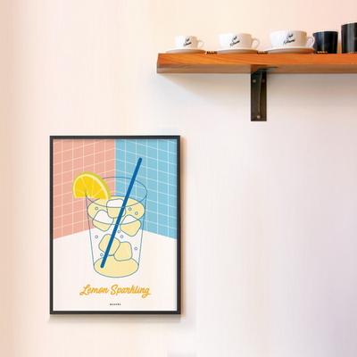 유니크 인테리어 디자인 포스터 M 레몬 스파클링