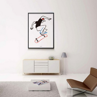 유니크 인테리어 디자인 포스터 M 스케이트 보드