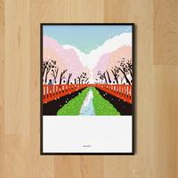 유니크 인테리어 디자인 포스터 M 진해 군항제 벚꽃 봄