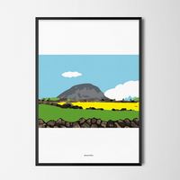 유니크 인테리어 디자인 포스터 M 제주 산방산 유채꽃 봄