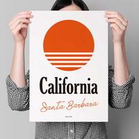 유니크 인테리어 디자인 포스터 M 캘리포니아