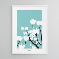 유니크 인테리어 포스터 M 매그놀리아 목련 봄 꽃
